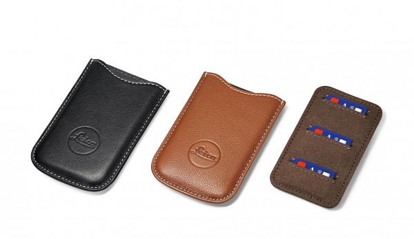 SD-Karten und Kreditkarten-Etui, Leder schwarz