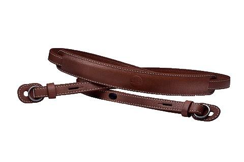 Tragriemen, mit Schutzlasche, Leder, vintage braun