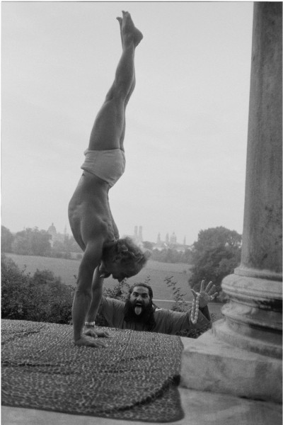 "Michael Friedel ""Yoga lesson with Swami dev Murti at the Monopteros, Englischer Garten"", München, 1955"