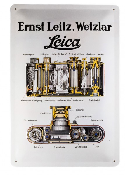 Leica Werbeschild, Ernst Leitz