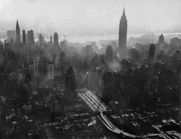 """Werner Bischof """"Skyline"""", New York City, 1953"""